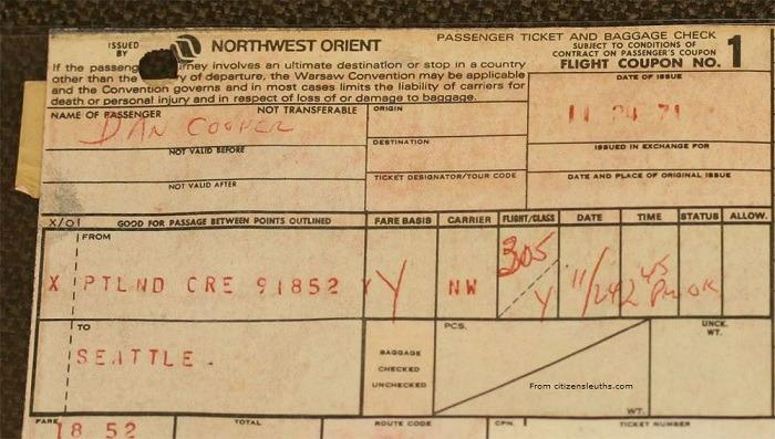 D.B. Cooper Hijacking Case 39